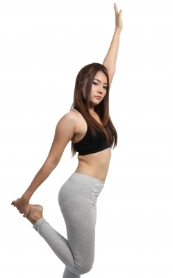 běhani oblečení a strečink stretching