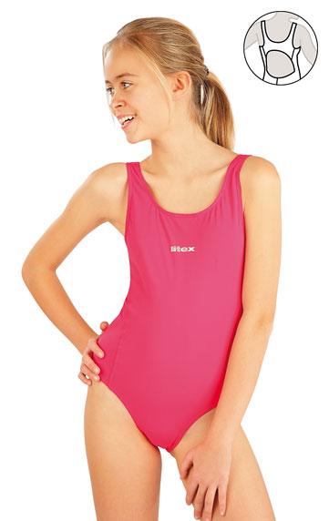Dívčí jednodílné sportovní plavky. akce sleva Litex 2018