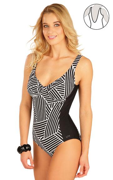 Jednodílné plavky s kosticemi. akce sleva Litex 2020