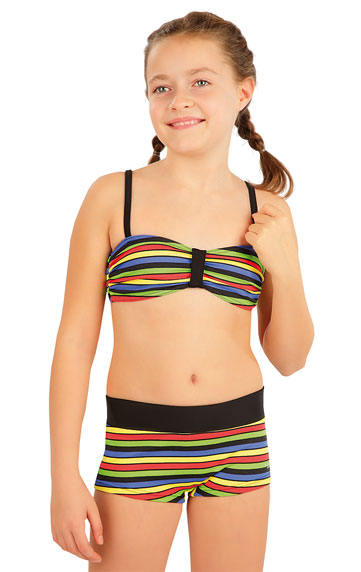 Dívčí plavky kalhotky bok. s nohavičkou. akce sleva Litex 2020