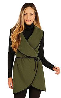 Fleecová vesta dámská dlouhá. akce sleva Litex 2020