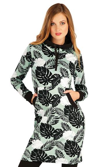 Mikinové šaty s kapucí. akce sleva Litex 2020