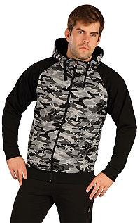 Mikina pánská na zip s kapucí. akce sleva Litex 2020