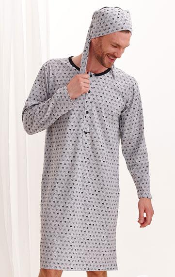Noční košile pánská s čepičkou.