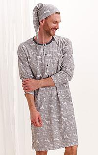Noční košile pánská s čepičkou. akce sleva Litex 2020